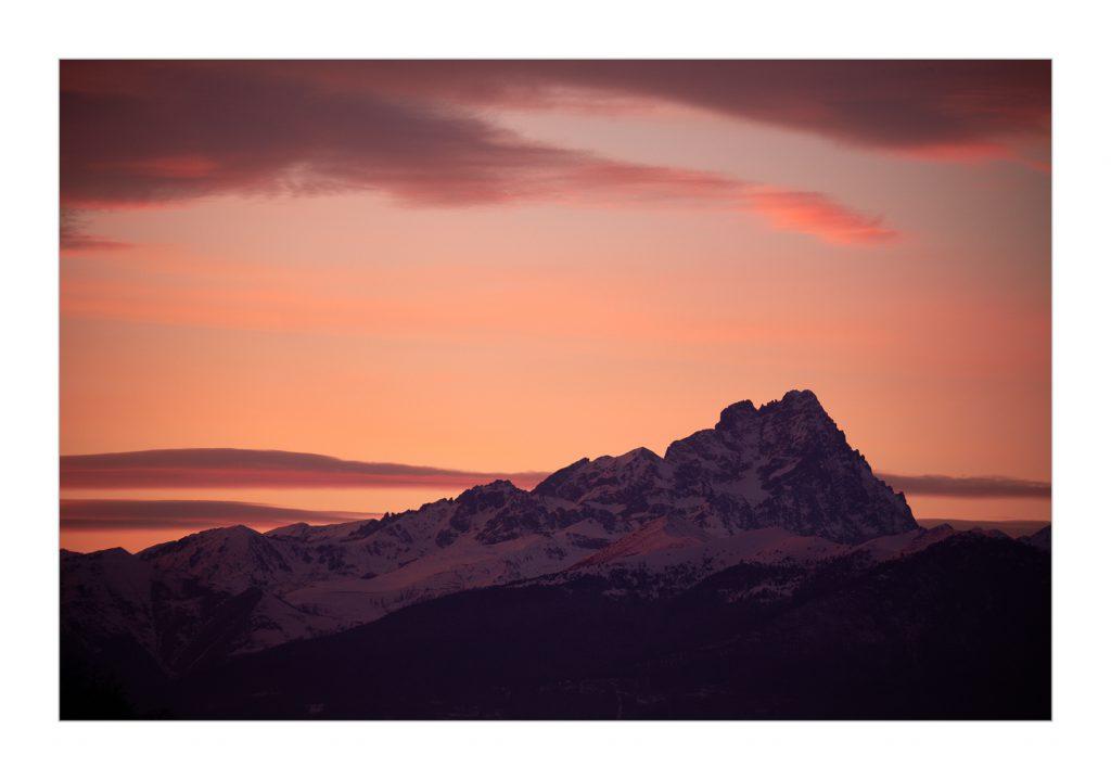 Monviso sunset